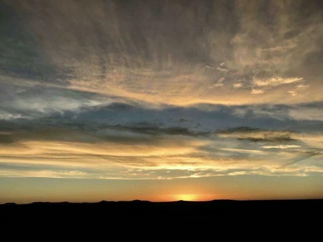 内モンゴルの夕日